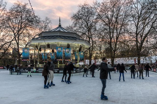 Ice Skating, Winter Wonderland, Hyde Park, London