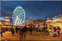 TQ2780 : Winter Wonderland, Hyde Park, London by Christine Matthews