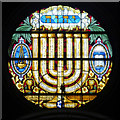 SJ8499 : Spanish and Portuguese Synagogue, East Window by David Dixon