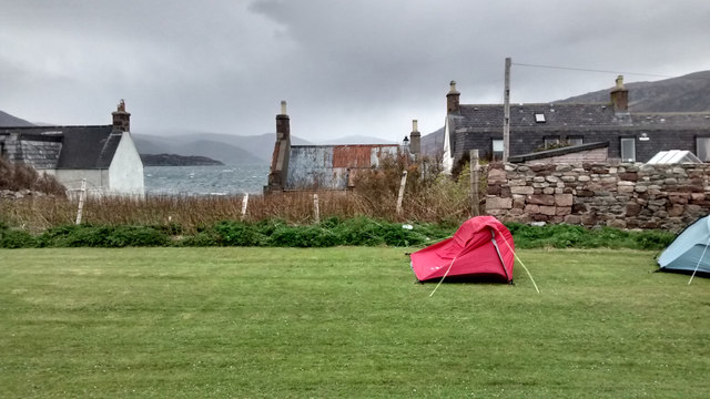 Tent Struggling in the Wind