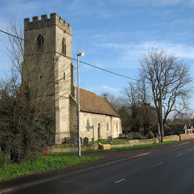 Hauxton: St Edmund - November sunlight