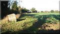 TG2001 : Footpath skirting crop field by Evelyn Simak