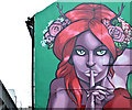 J3474 : Street art, Joy's Entry, Belfast (November 2015) by Albert Bridge