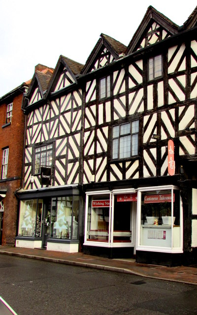 Wishing Star in a black and white building, Shifnal