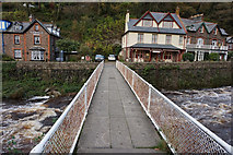 SS7249 : Footbridge over East Lyn River,  Lynmouth by Ian S