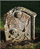 NT4728 : A symbolic gravestone at Selkirk Auld Kirk graveyard by Walter Baxter
