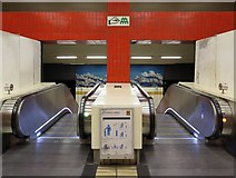 NZ2563 : Gateshead Metro Station (above the escalators) by Andrew Curtis