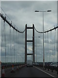 TA0224 : The A15 on the Humber Bridge by Rod Allday