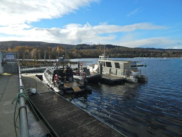 Boats near Balloch Pier