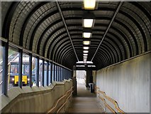 NZ3064 : Hebburn Metro Station (pedestrian ramp to Platform 1) by Andrew Curtis