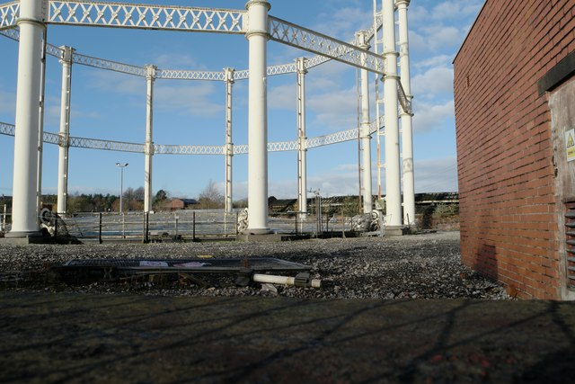 The gasholder is intact