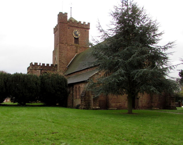 West side of St Andrew's Church, Shifnal