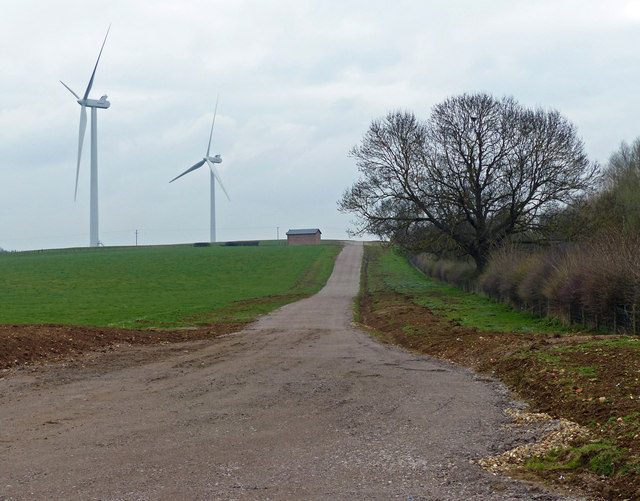 Track to the wind turbines