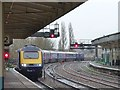 ST3088 : Train arriving at Newport Station by Robin Drayton