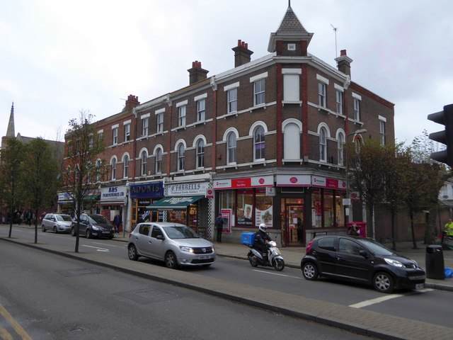 Post Office and other businesses, High Road, Willesden