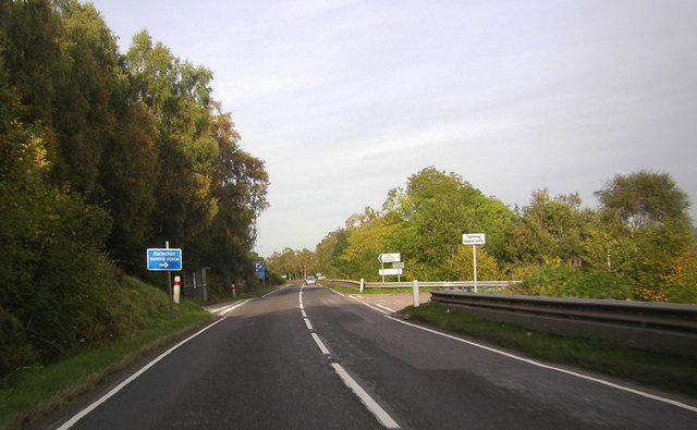 A82 approaching the Abriachan turning
