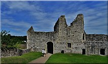 ST5394 : Chepstow Castle: The rear of the middle bailey gateway by Michael Garlick