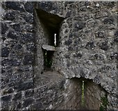ST5394 : Chepstow Castle: South west tower archer slits by Michael Garlick