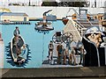 NZ3666 : Painted mural, Commercial Road, South Shields (detail) by Andrew Curtis