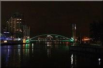SJ8097 : The Lowry Bridge - Salford Quays by Anthony Parkes