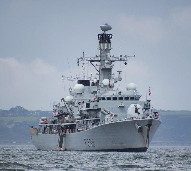 HMS 'Northumberland' in Belfast Lough