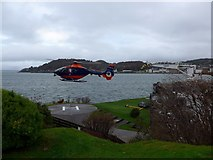 NM8529 : Helicopter lifting off at the NLB base, Oban by Gordon Brown