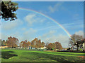 SK3671 : Rainbow over Ashgate Croft School by Richard Dorrell