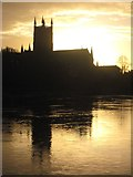 SO8454 : Worcester Cathedral at sunrise by Philip Halling