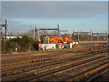 SU1585 : Electrification Training School, near Swindon station by Vieve Forward