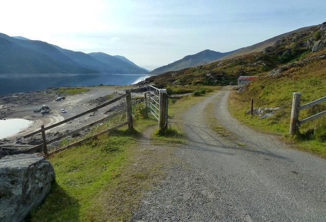 Low water levels on Loch Mullardoch