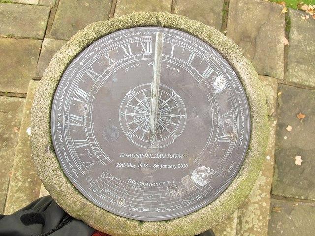 Whalley parish church: sundial (Detail)