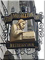 TQ7655 : The Muggleton Inn sign by Oast House Archive