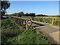TL3468 : Bailey bridge, Fen Drayton Lakes by Hugh Venables