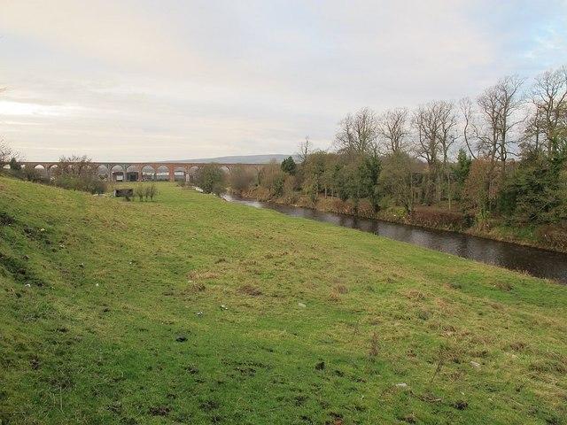 Fields by the river Calder, Billington