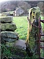 SK3462 : View to an old farm building at Greenend by Neil Theasby