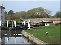SP8829 : At Stoke Hammond Lock by Peter S