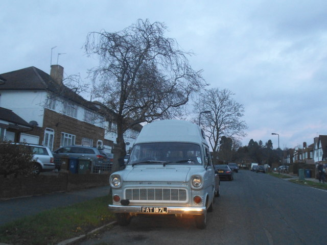 1972 Ford Transit on Rowlands Avenue, Hatch End