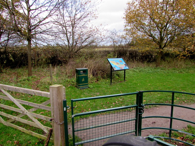 Entrance to Donington & Albrighton Local Nature Reserve