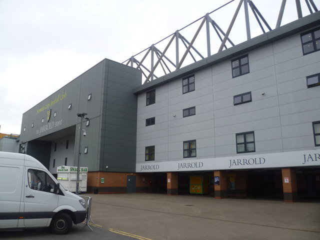 Part of the Jarrold stand at Carrow Road, Norwich