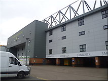 TG2407 : Part of the Jarrold stand at Carrow Road, Norwich by Jeremy Bolwell