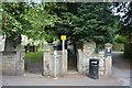 SK2176 : Footpath by Eyam Church by N Chadwick