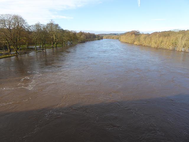 The Tyne in flood