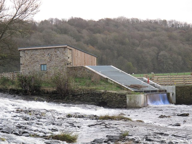 Hydro electric plant on the Calder at Whalley
