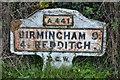 SP0274 : Old Milepost by Keith Evans