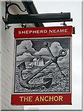 TM0321 : The Anchor, Rowhedge - inn sign by Robin Webster