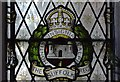 TM1065 : Mendlesham: St. Mary's Church: The First World War memorial window by Michael Garlick