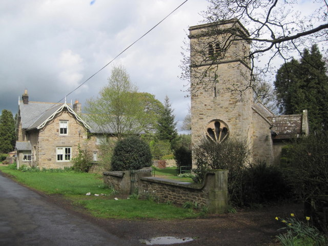 Church of St. John and Old School House, Healey village