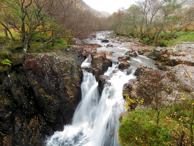 Lower waterfall on River Nevis