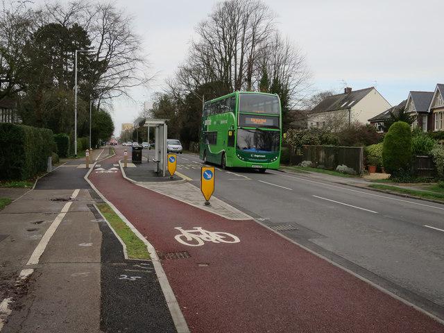 Floating bus stop, Hills Road by Hugh Venables
