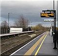 SJ7905 : Electronic display board, platform 2, Cosford railway station by Jaggery